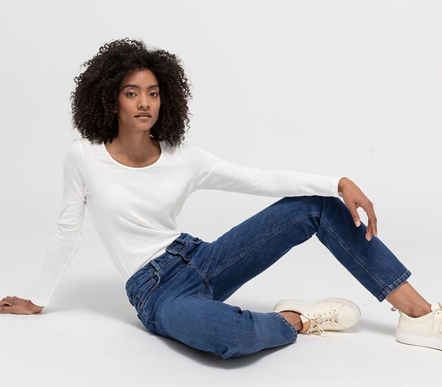 Jeans basics for women in organic quality
