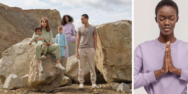 Sweatbekleidung aus Naturfarben
