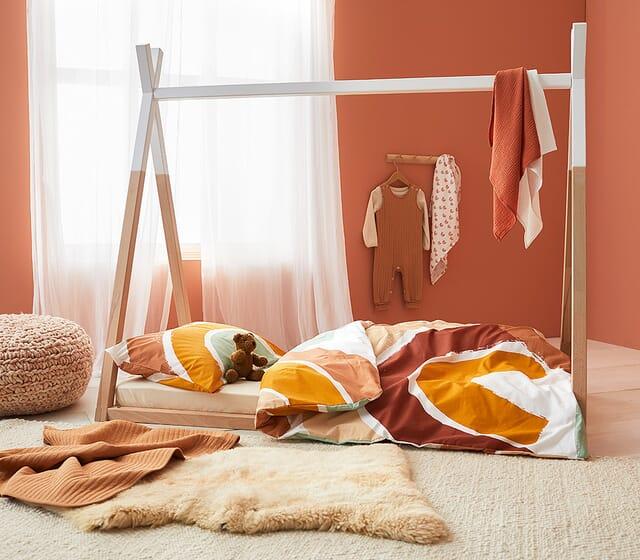 Gesunder Babyschlaf - Bettwäsche aus hochwertigen Naturmaterialien.
