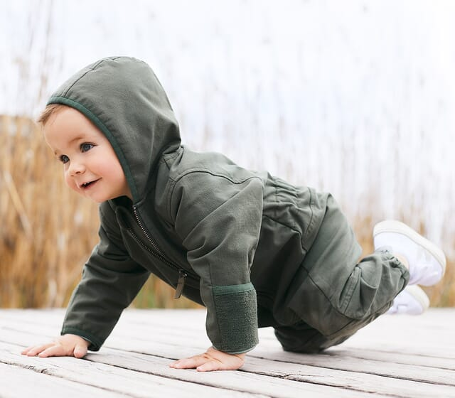 Baby Overalls: Von Kopf bis Fuß gut angezogen.