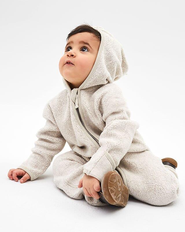 Bio-Baumwollfleece Kleidung für Babys.