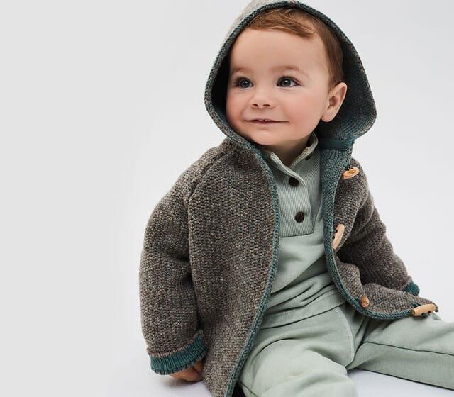 Mode für Babys und Kinder in Naturfarben