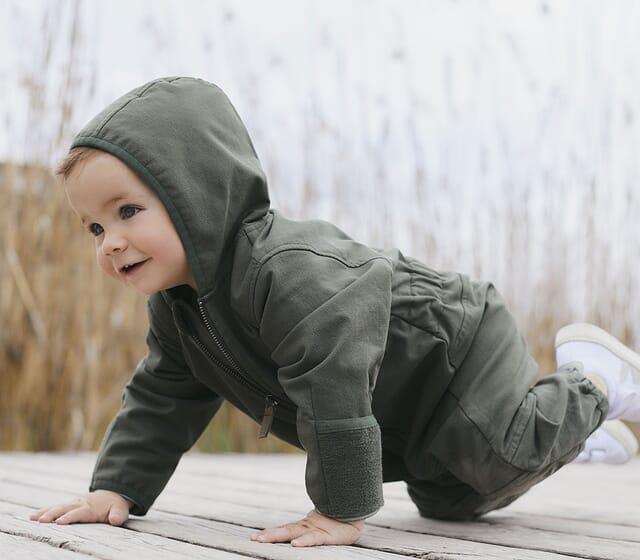 Bio-Softshell für Babys & Kinder.