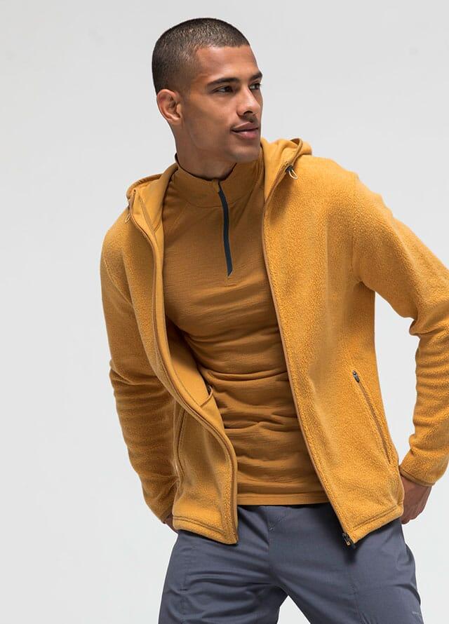 Vegan men's outdoor clothing