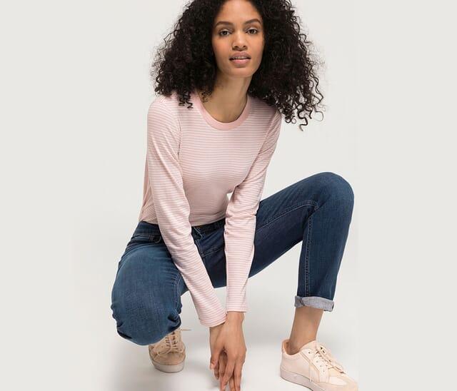 Women's clothing made of organic cotton