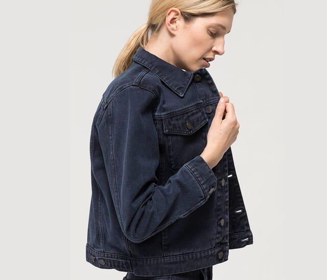 Women's jeans made from organic denim