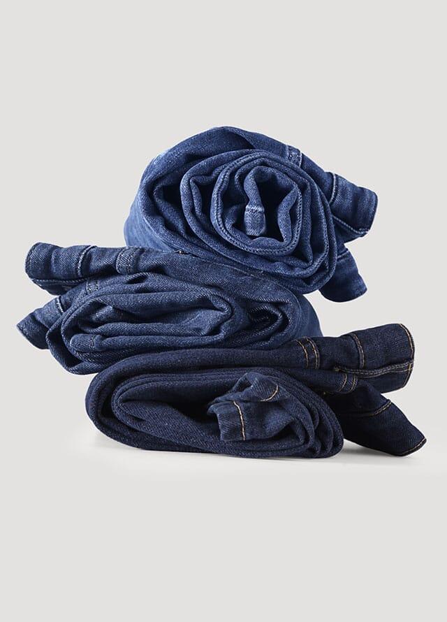 Men's jeans made from organic denim.