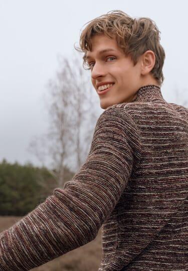 Herrenkleidung aus Biomaterialien für den Winter