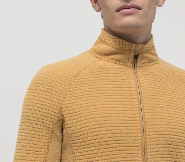Wabenfleece-Jacke für Herren