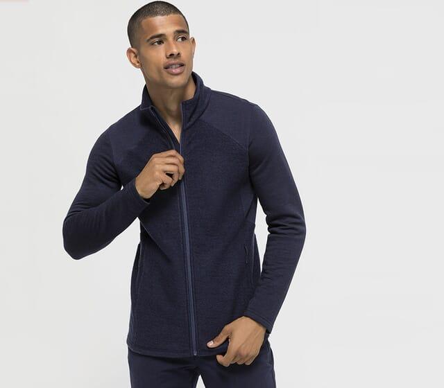 Leichte Wollfleece-Jacke für Herren